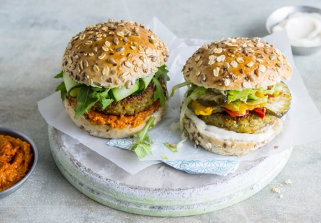 veggie burger | burger de légumes | cook and create