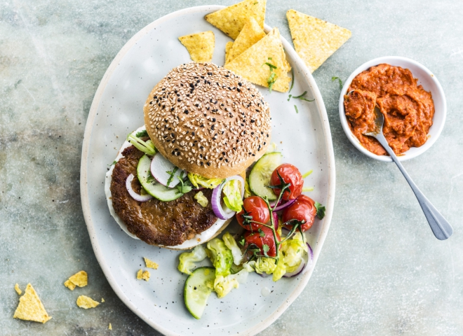 zero meat burger | veggie burger | vleesvervanger | cook & create